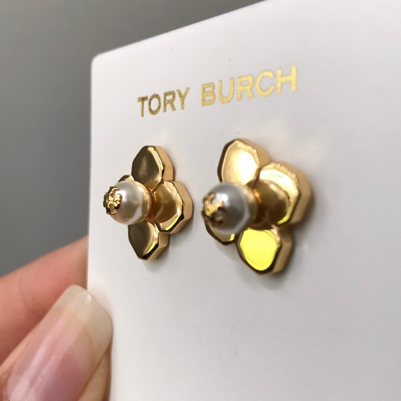 b3d3db202 Tory Burch Jewelry | Gold Babylon Stud Earring | Poshmark